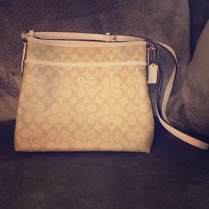 Coach Sign File Leather Crossbody Bag